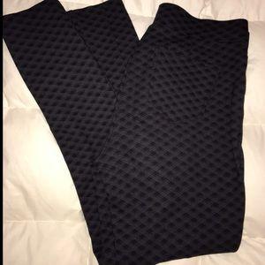 Plaid Black Work Pants